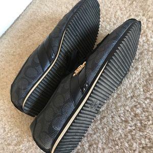 Coach Shoes - Coach Ivy Signature Sneakers Lace-Up Shoes Black